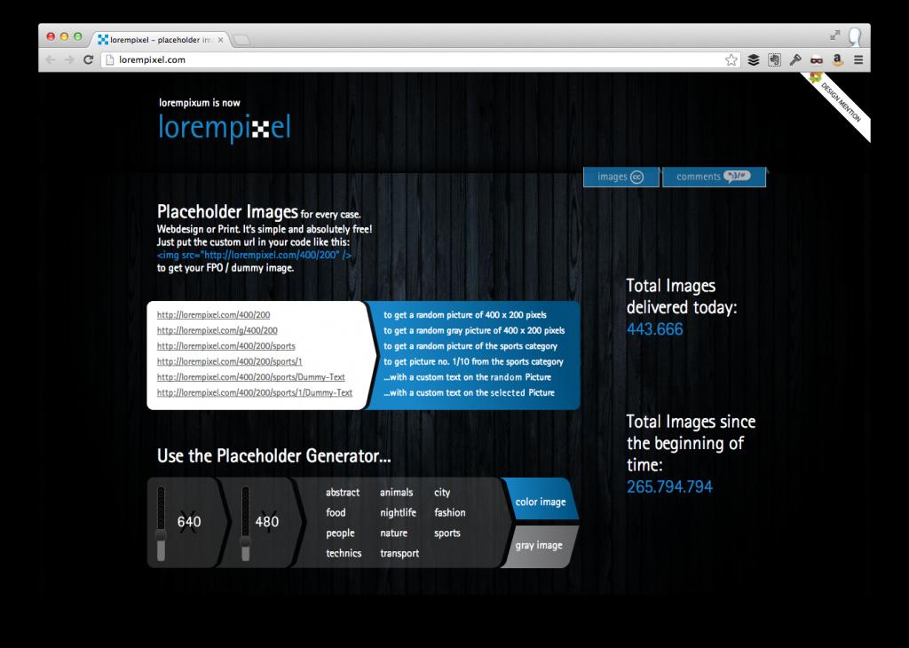 WordPres Placeholder Images