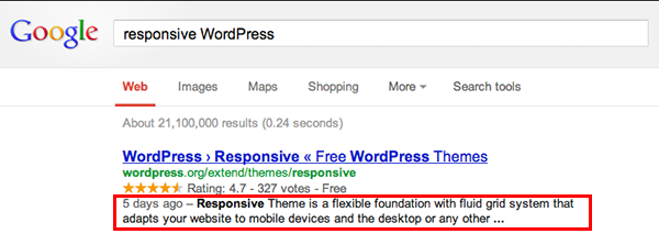 Search Engine Description Example