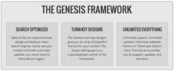 The Genesis WordPress Framework