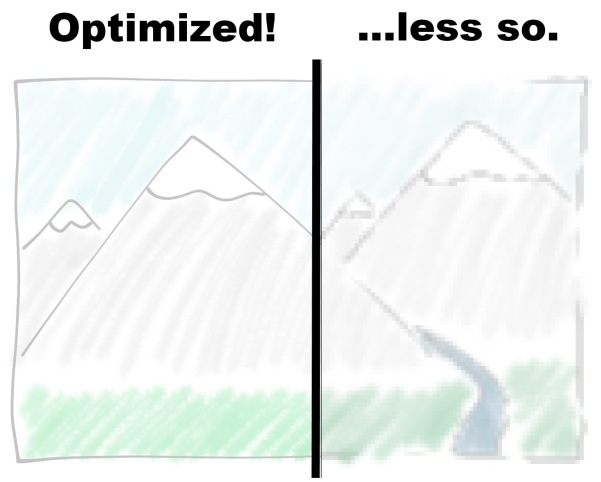illustration showing improvement from optimizing images