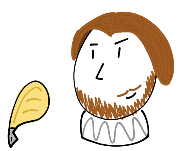 A crude drawing of William Shakespeare