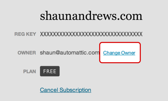 Change Owner Account