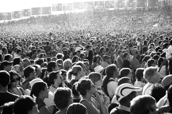 general public crowd