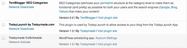 wordpress plugin management with multisite enabled