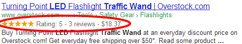 Product & Review rich snippets appearing in search