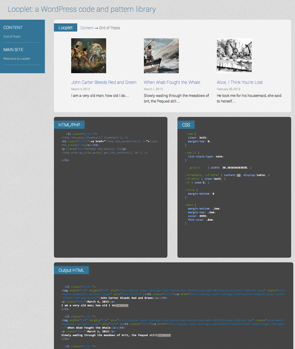 Looplet: The Pattern Library built for WordPress