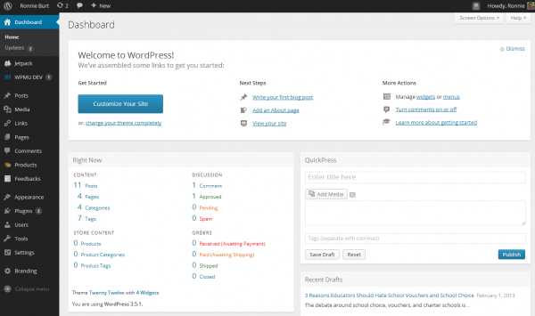 new-wp-dashboard