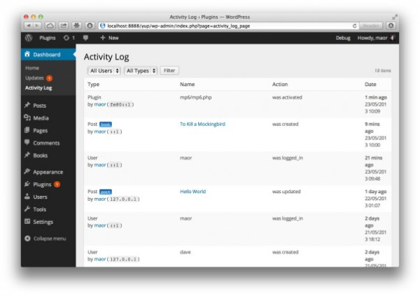 activity-log