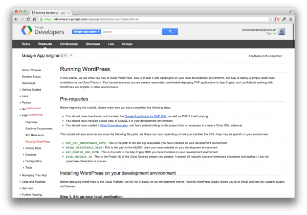 google-app-engine-wordpress-tutorial