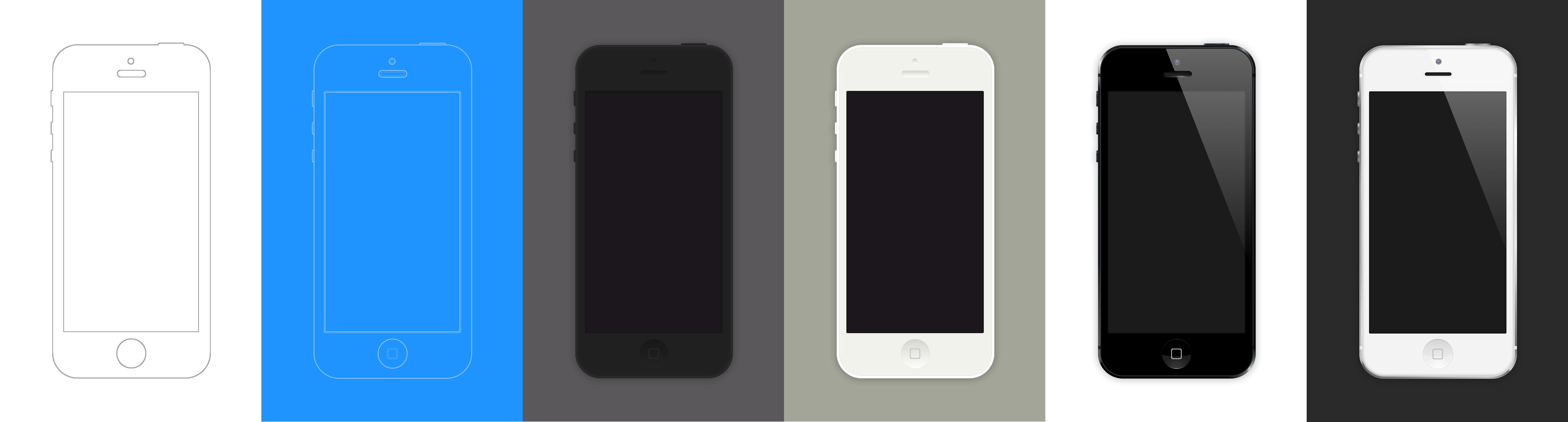 iPhone 5 .Sketch Template via Dribbble | @thetorquemag