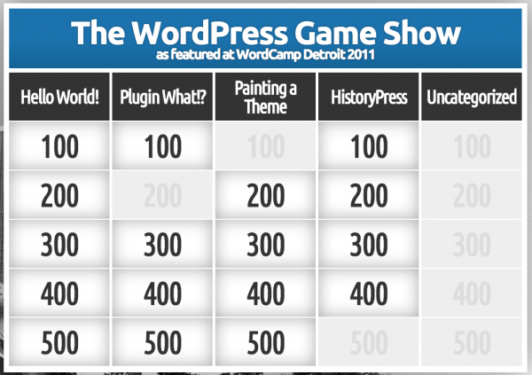 WordPress Game Show!