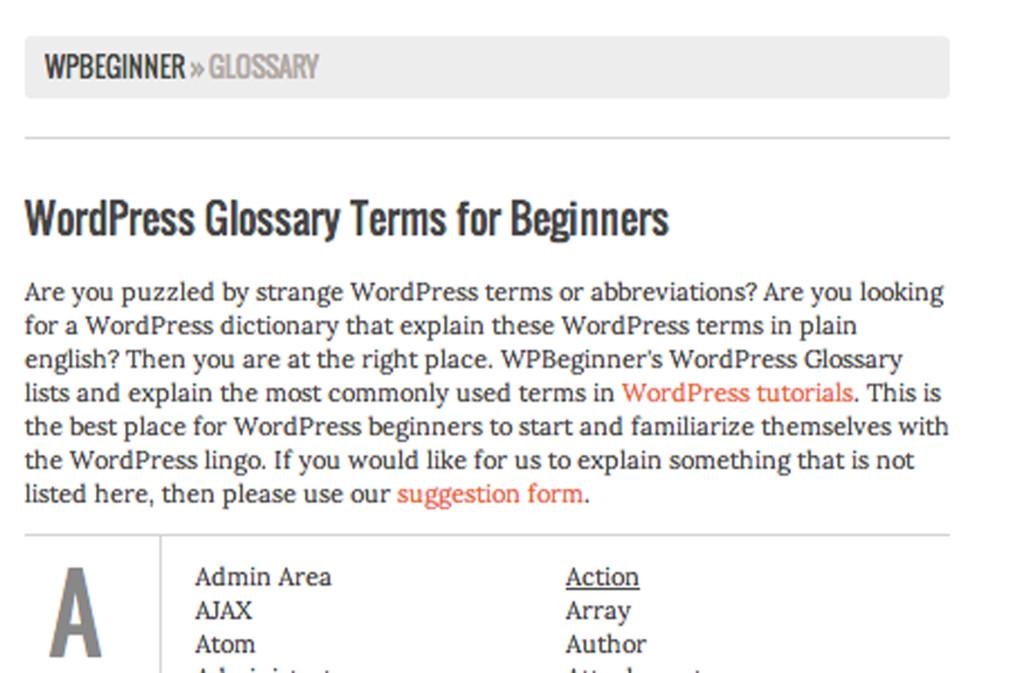 WP Glossary 2
