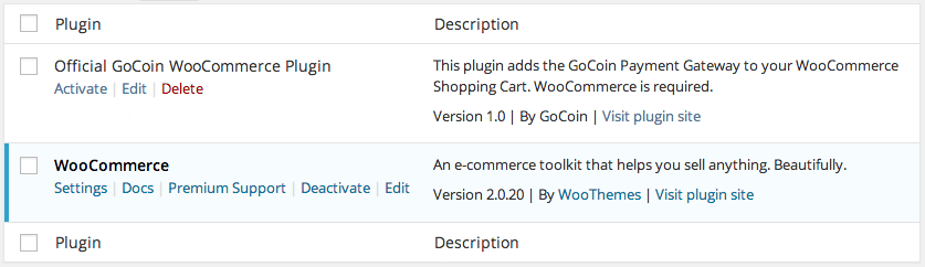 GoCoin WooCommerce Extension