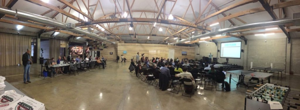 Panorama of the San Francisco WordPress Meetup