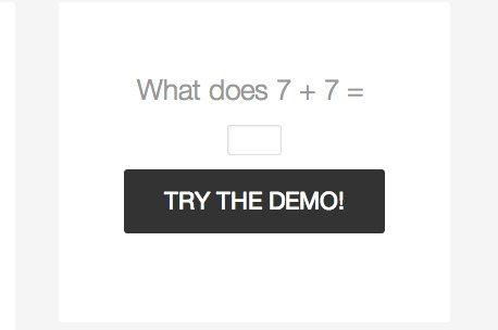 The demo login form