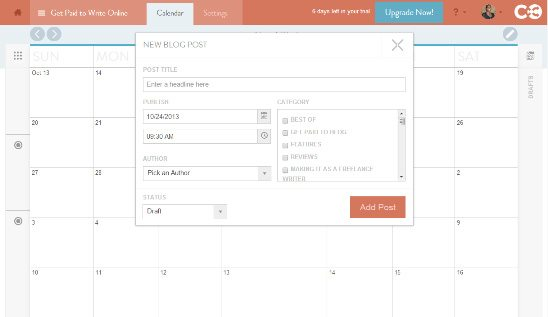 Coschedule bring story budgeting and planning to WordPress