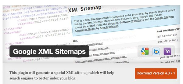 Google XML Sitemaps has a great example of a banner
