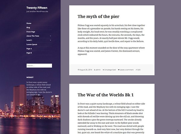A first look at the Twenty Fifteen Theme