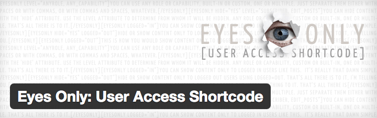Eyes Only: User Access Shortcode
