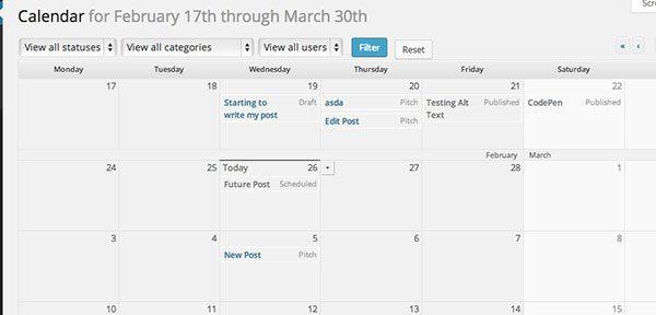 EditFlow calendar