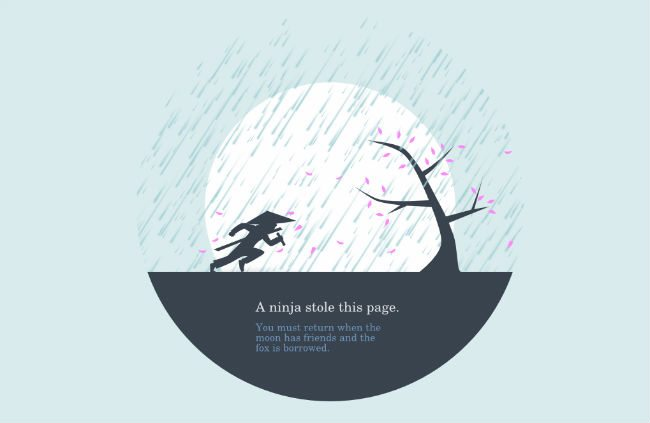 Huwshimi 404 page