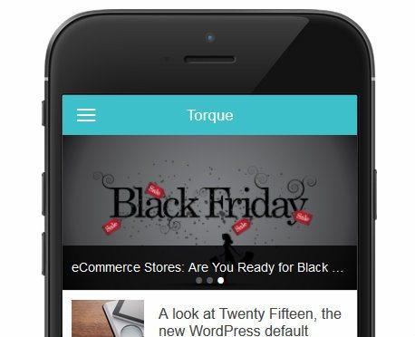 Torque App Slider
