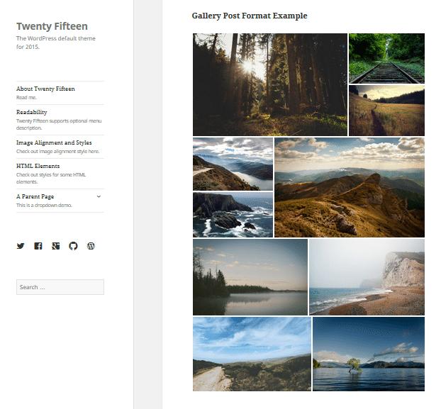 Twenty Fifteen - Gallery post format
