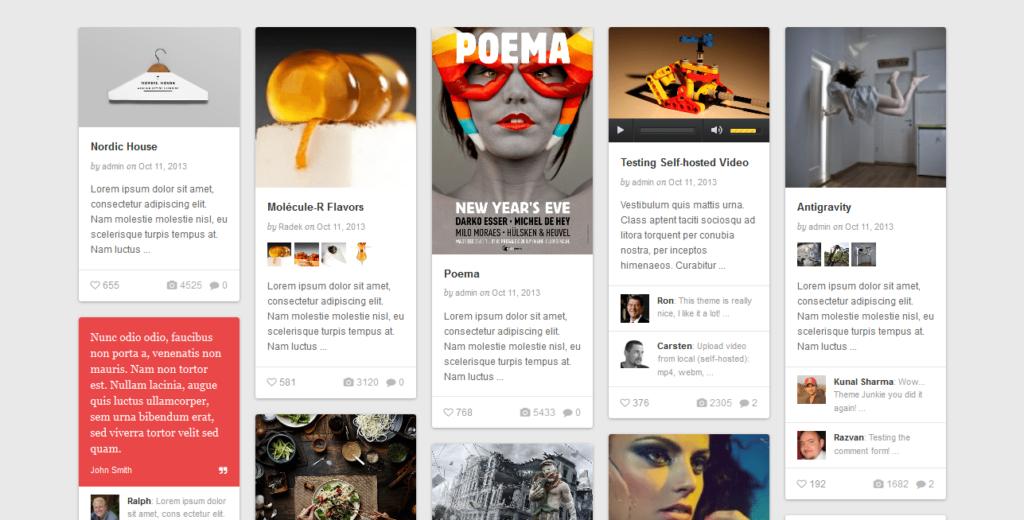 WordPress Web Design Trends 2015 Card Design