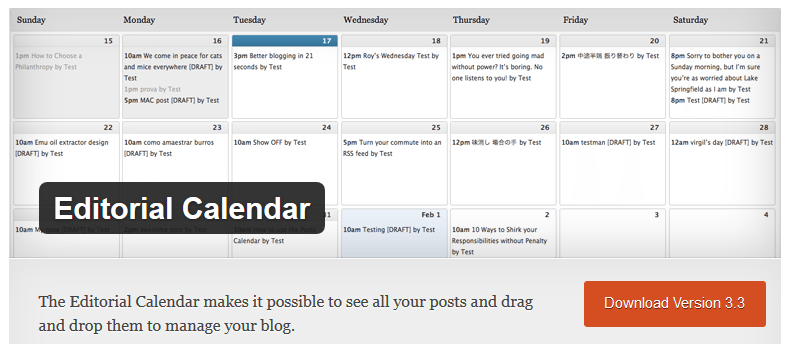 blogging tools wordpress editorial calendar plugin