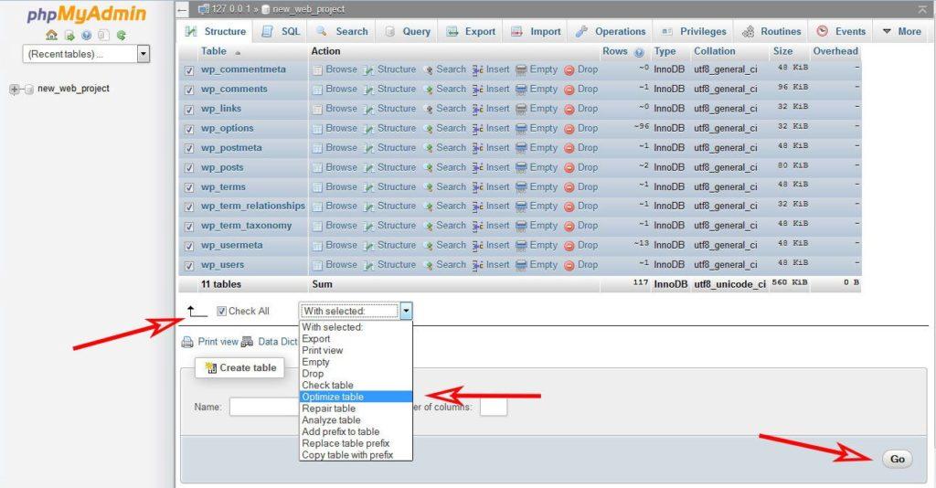 phpMyAdmin-optimize-tables