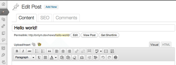 Use tabify to declutter the WordPress editor