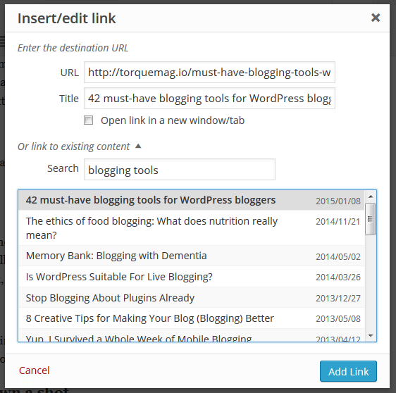 creating an internal link