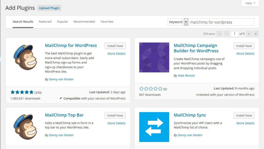 MailChimp-for-WordPress-plugin-installation