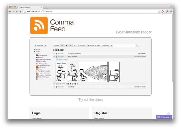 CommaFeed: Bloat-Free Self-Hosted RSS Reader?   @thetorquemag