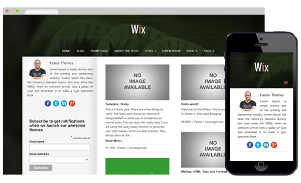 Free wordpress themes august 2014 thetorquemag for Can i download wix templates